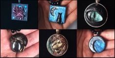 :.Polymer clay Pendants.: by XPantherArtX