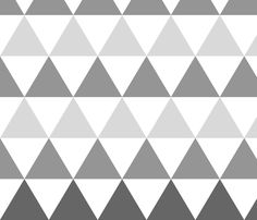 Ombre Triangles Large Gray fabric by leanne on Spoonflower - custom fabric