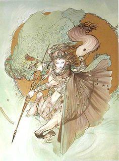 「騎神来たりぬーDX」 by Yoshitaka Amano http://en.wikipedia.org/wiki/Yoshitaka_Amano