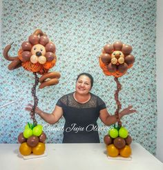 jungle party balloons/mdb Más Balloon Table Decorations, Jungle Decorations, Balloon Centerpieces, Balloon Ideas, Jungle Theme Parties, Safari Birthday Party, Jungle Party, Twin Boy And Girl Baby Shower, Jungle Balloons