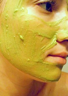 Mashed avocado—Combine with a little fresh lemon juice, then apply the paste-like mixture to your face; leave the mask on for 10 to 15 minutes and rinse off. Mashed avocado (minus lemon juice) is also a great deep hair conditioner) Avocado Mask, Korean Skincare Steps, Indian Healing Clay, Aloe Vera Face Mask, Skin Mask, Deep, Homemade Beauty, Natural Skin Care, Beauty
