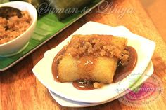 Suman is one of the most popular sweet sticky rice cake, a favorite meryenda here in the Philippines. The basic ingredients to make a suman are glutinous rice, coconut milk, brown sugar, lye and wrapped in banana leaves.