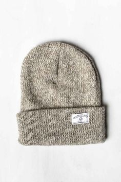 A soft, chunky marled knit version of our classic cap.