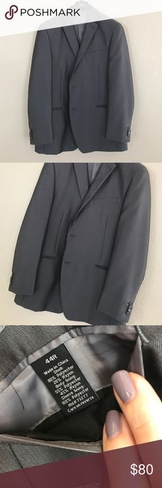 Men's Apt 9 Suite Jacket Gray // worn once to an interview// size 44R // fully lined Apt. 9 Suits & Blazers Suits