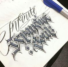 Lettering Styles, Lettering Design, Hand Lettering, Tattoo Ideas, Tattoo Designs, Calligraphy Alphabet, Graffiti Lettering, Penmanship, Monogram Initials