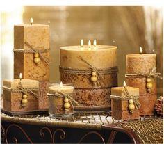 dekoratif kokulu mumlar