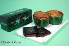 Muffins de After Eight Best Spanish Food, Spanish Desserts, Tapas Recipes, Cupcakes, Chocolate, Oven, Breakfast, Friends, Traditional