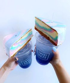 galaxy cheesecakes 💫 on the daily menu in store! 🍰 ord - Sweet Daze Dessert Bar media photos videos Cute Desserts, Delicious Desserts, Yummy Food, Starbucks, Yummy Treats, Sweet Treats, Dessert Restaurants, Champagne Cake, Unicorn Foods