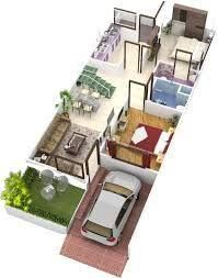 Image Result For House Plan 20 X 50 Sq Ft 2bhk House Plan