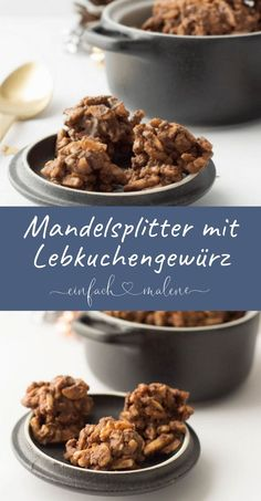Für diese Lebkuchen Mandelsplitter benötigt ihr nur 5 Zutaten und ein paar Min… For these gingerbread almonds, you only need 5 ingredients and a few minutes time. Anyone who likes almonds and gingerbread will love this little chocolate treat. Xmas Food, Christmas Baking, Baking Recipes, Cookie Recipes, My Favorite Food, Favorite Recipes, Healthy Low Carb Dinners, German Baking, Spice Bread