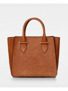 Lynette small tote - cognac Smooth Leather, Suede Leather, Edgy Look, You Bag, Scandinavian Design, Dust Bag, Mini, Bags, Fall Winter