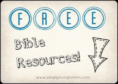 FREE Resources for Using the Bible as Your Main Text
