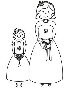 17 wedding coloring pages for kids who love to dream about their big day bridesmaid flowergirl