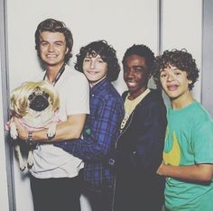 Joe Keery, Finn Wolfhard, Caleb McLaughlin, and Gaten Matarazzo.