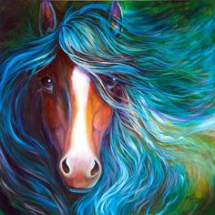 M BALDWIN ORIGINAL OIL PAINTING HORSE ABSTRACT by MARCIA BALDWIN #Abstract