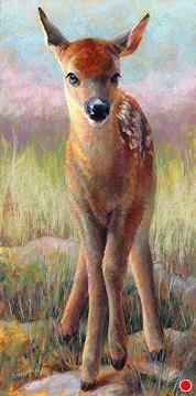 "Daily Paintworks - ""A New Day"" - Original Fine Art for Sale - © Rita Kirkman Animal Paintings, Animal Drawings, Cute Drawings, Illustrations, Illustration Art, Chalk Pastels, Oil Pastels, Deer Art, Spirited Art"