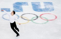SOCHI, RUSSIA - FEBRUARY 03: Patrick Chan of Canada practices his routine during Figure Skating training ahead of the Sochi 2014 Winter Olympics at Iceberg Skating Palace on February 3, 2014 in Sochi, Russia. (Photo by Matthew Stockman/Getty Images)