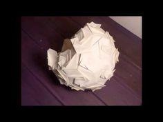 Lampara de papel - Lustre en papier - Paper lantern - YouTube Origami, Paper Lanterns, Home Deco, Youtube, Diy, Ideas, Decor, Paper Envelopes, Manualidades
