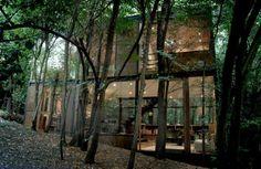 innovatives Glashaus-Fassade