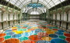 Paris's Grand Palais Gets Phantasmagoric Canopy of Color