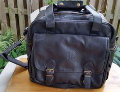 610c34d40b6 Vtg Expandable Duffle Bag Black Leather 1899 Travel Carry on WILSON  Weekender  WilsonLeather