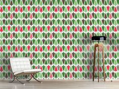Design #Tapete Christbaum Allee