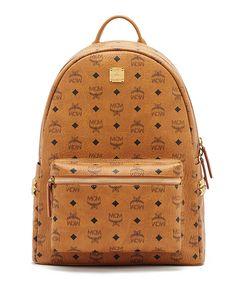 Stark Side Stud Medium Backpack, Red - MCM