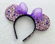 Tangled Rapunzel Inspired Rhinestone Minnie Mouse Ears - MADE TO ORDER
