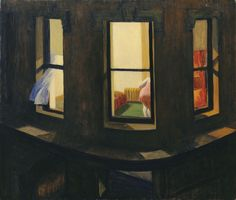 Night Windows (Janelas à Noite), 1928 . Edward Hopper . Óleo sobre tela, 73,7 x 86,4 cm . Nova Iorque, Collection, The Museum of Modern Art, Doação de John Hay Whitney