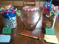 Family Math Night Estimation Jars  www.familymathnight.com