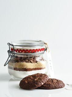 Biscuits au chocolat en pot