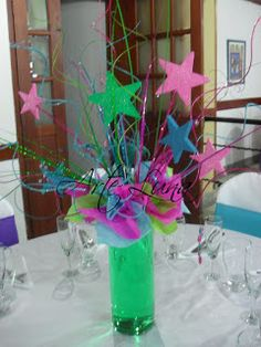 70s Party, Neon Party, Disco Party, 80s Party Decorations, Party Centerpieces, Party Themes, Party Ideas, Neon Birthday, Birthday Parties
