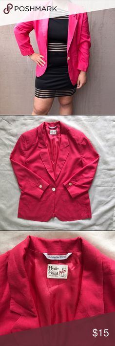 NEW Hyde Point L Pink Blazer Like NEW. Fit size 12-14 Hyde Fashion Jackets & Coats Blazers
