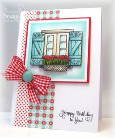 Tulip Window Box by bfinlay - Cards and Paper Crafts at Splitcoaststampers