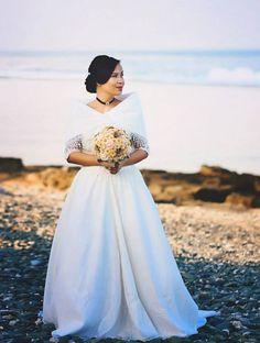 Maria Clara Wedding Gown worn in a simple wedding in Luna La Union Filipiniana Wedding Theme, Filipiniana Dress, Modern Wedding Theme, Dream Wedding, Wedding Stuff, Wedding Dress Types, Wedding Gowns, Filipino Wedding, Maria Clara