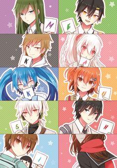 """Amamiya Hibiya"" ""As ""Amamiya Hibiya"" ""Asahina Hiyori"" ""ENE"" ""Enomoto Takane"" ""Kano Shuuya"" ""Kido Tsubomi"" ""Kisaragi Momo"" ""Kisaragi Shintarou"" ""Kokonose Haruka"" ""Konoha"" ""Kozakura Mary"" ""Seto Kousuke"" ""Tateyama Ayano"" Anime Chibi, Miku Chibi, Manga Anime, Manga Art, Kawaii Anime, Anime Art, Hatsune Miku, Mekakucity Actors Konoha, Anime Songs"