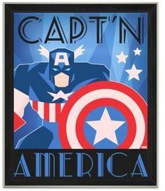 Marvel® Framed Captain America Graphic Wall Art
