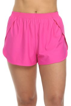 Pink Shorts Cover Up - Tara Grinna Swimwear Pink Swimsuit, One Piece Swimsuit, Knit Shorts, Swimwear Fashion, Sophisticated Style, The Ordinary, Tankini, Under Armour, Gym Shorts Womens