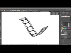 How to create 3D Film Strip in Adobe Illustrator- Simple - YouTube