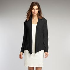 Tailored Cardigan, Indigenous Clothing | Open Front. Shawl Collar. Drapes Elegantly Toward Body.