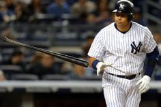 NEW YORK, NY - JUNE 6: Alex Rodriguez #13 of the New York Yankees tosses his bat after being walked against the Los Angeles Angels of Anaheim during the eighth inning at Yankee Stadium on June 6, 2015 in the Bronx borough of New York City. (Photo by Adam Hunger/Getty Images)