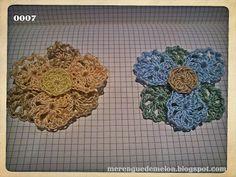 nuevos modelos y colores !! flor de 6 petalos en 3 colores hechas en crochet