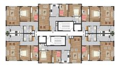 Residential Building Plan, Building Plans, Flat Plan, Gaming Room Setup, House Floor Plans, Game Room, Flooring, How To Plan, Condo