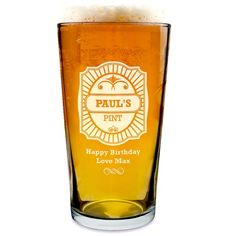 Personalised Engraved Pint Glass