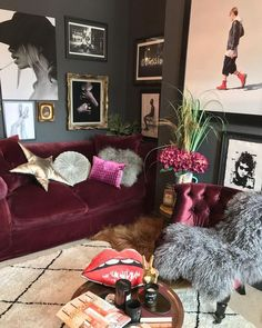 The Dark Eclectic living room style. Eclectic Living Room, Interior Design Living Room, Living Room Decor, Bedroom Decor, Aesthetic Rooms, Home And Living, House Design, Decoration, Happy Easter