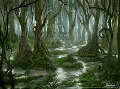 fantasy swamp | starting with a new project to create a better portfolio to send ...