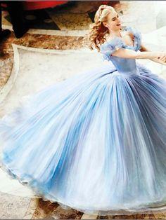 Cinderella--Her dress is beautiful!
