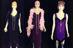 Costume and prop hire for the Bugsy Malone stage show. We have guns, splurge, and costume sets, including suits for hoods and dresses for flappers and showgirls in diffferent age ranges Costume Hire, Costumes, Bugsy Malone, Prop Hire, Showgirls, Headbands, Suits, Beads, Dresses