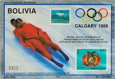 Bolivia Olympic stamp