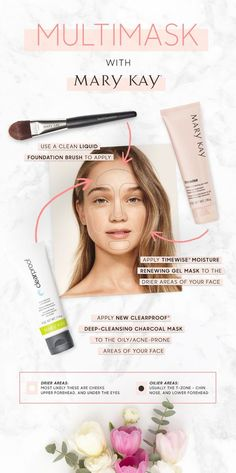 Hot new trend: Multimasking! Apply Clear Proof® Deep-Cleansing Charcoal Mask on oily areas like your T-zone and TimeWise® Moisture Renewing Gel Mask on the drier areas of your face. The result? Complexion benefits created by a customized product combination!